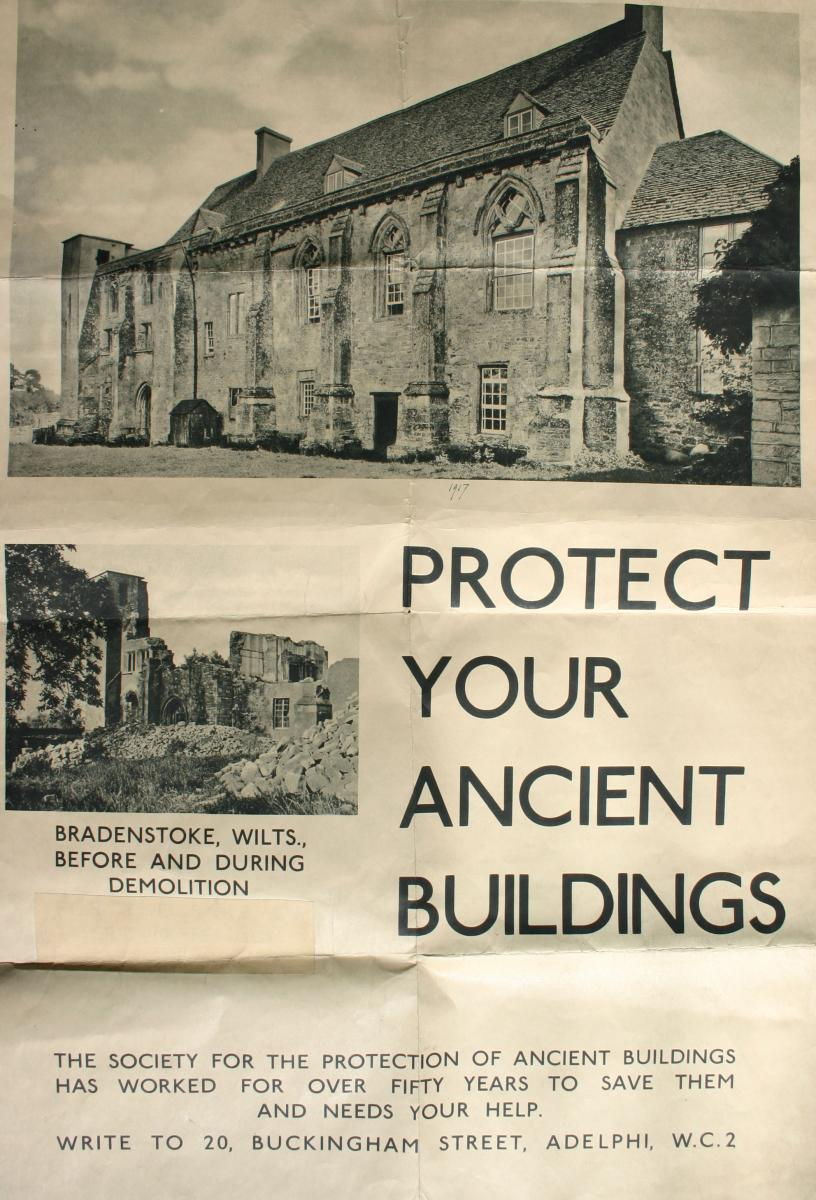 The SPAB Manifesto, Bradenstoke Priory poster