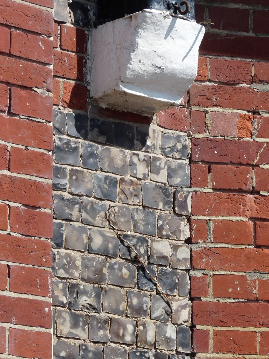 Example Flint and brick wall